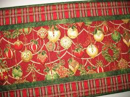 table runner ornaments quilted focus fabric from kaufman