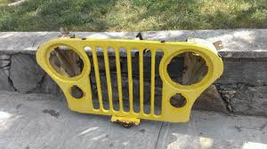 yellow jeep wheelingear 1983 original yellow jeep cj7 grill