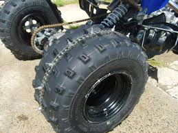 Off Road Tire Chains Studded Tire Chains Yamaha Raptor Forum