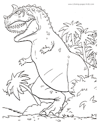 Impressive Dinosaur Coloring Sheets Cool Color 4051 Unknown