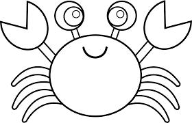 cute crab line art free clip art