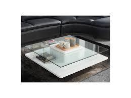 Wohnzimmertisch Quadratisch Glas Couchtisch Glas Hochglanz Asnia Weiß Günstig Kauf Unique