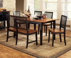 black dining room set
