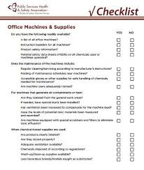 public services health and safety association office machines