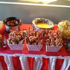 Backyard Movie Party by Concession Stand