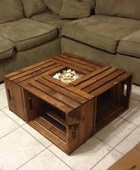 How To Make Wine Crate Coffee Table - our diy wood crate coffee table how we did it we used 4 wood