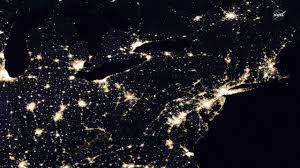 lights of human activity shine in nasa s image of earth at