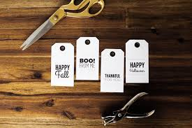 fall halloween printable gift tags