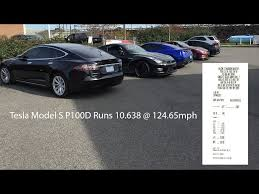 tesla model s p100d breaks quarter mile record in 10 638 seconds