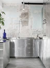 cuisine en metal cuisine en metal grise style indus industriel retro vintagr