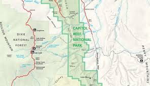 capitol reef national park map capital reef utah lessons tes teach