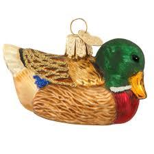 mallard duck glass ornament old world christmas ornaments