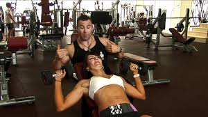 ladies incline dumbbell press exercise youtube