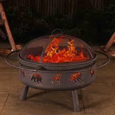 Burning Pit Of Fire - sunjoy steel wood burning fire pit u0026 reviews wayfair