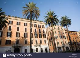 Italy Houses by Palm Trees In Front Of Typical Italian Houses At Piazza Di Spagna