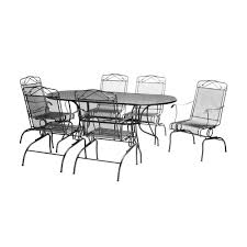 Black Iron Patio Chairs by Dining Room Gorgeous Outdoor Dining Room Decoration With Round