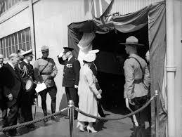 king george vi and queen elizabeth entering c n r dock city of