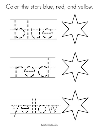 twisty noodle coloring pages color the stars blue red and yellow coloring page twisty