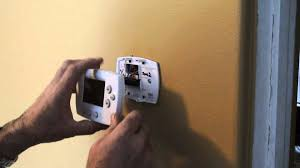honeywell thermostat 5000 6000 removal youtube