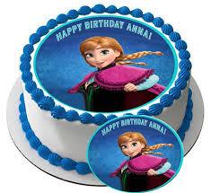 frozen anna edible cake or cupcake topper u2013 edible prints on cake