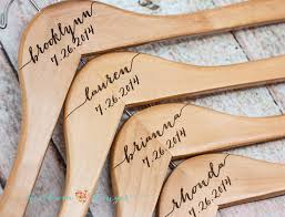 personalized bridesmaid hanger wooden engraved hanger