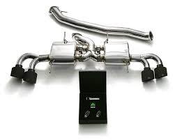 Nissan Gtr Matte Black - armytrix stainless steel valvetronic catback exhaust system quad