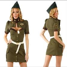 Army Guy Halloween Costume Army Green Spy Halloween Dress American Sailor Policewoman