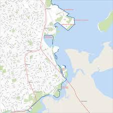 Boston Harbor Map by Boston Harbor Walk Maplets