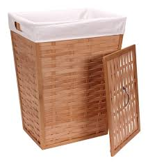 household essentials lidded wicker laundry hamper 142169396086