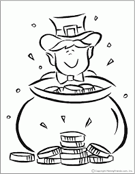 rainbow pot of gold coloring pages pot of gold coloring page coloring home
