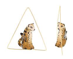 boucle d oreille leopard boucle d u0027oreille créole triangle leopard j125 nach bijoux