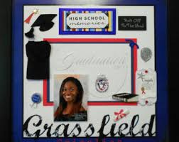 graduation shadow box lakes high custom made graduation memory album page shadow