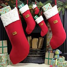 personalised christmas stocking in many sizes by santa u0027s little