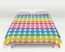 Rainbow Bedroom Decor Rainbow Bedding Etsy