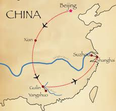 Xi An China Map by China Scenes 14 Days Interasia Travel Travel Exotic Asia With