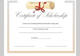 templates for scholarship awards best photos of scholarship certificate templates printable