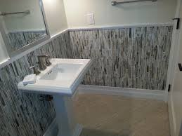 bathroom ideas with wainscoting bathroom half bath remodel with beadboard wainscoting simple