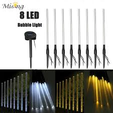 rechargeable warm white 8 led solar light acrylic stick