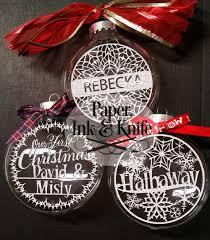 christmas ornaments set of 10 customizable papercut template