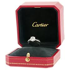 cartier engagement rings cartier 1 58 carat cert platinum engagement ring at