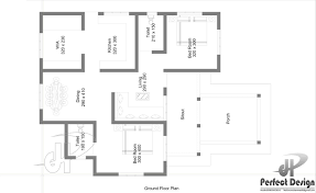 968 sq ft beautiful home design kerala for more designs this plan