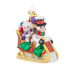snow motion christopher radko snowman ornaments