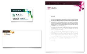 pediatric doctor business card u0026 letterhead template design