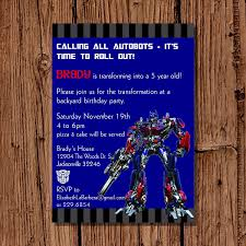 transformer birthday invitations afoodaffair me