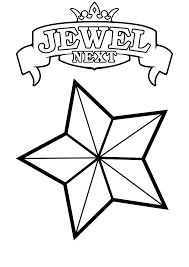coloring pages gorgeous jewel coloring pages free printable star