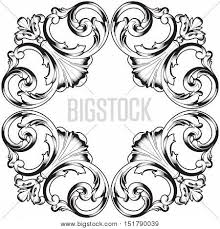 black vintage ornament baroque vector photo bigstock