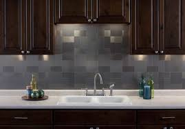 Silver Kitchen Backsplash Ideas  Kitchen Backsplashes That Wow - Metal kitchen backsplash