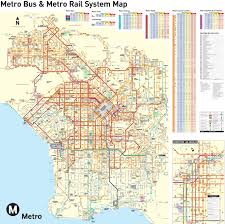 Downtown Los Angeles Map by Large Detailed Transport Map Of Los Angeles City Los Angeles