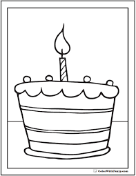 birthday cake coloring pages customizable printables 22273