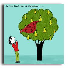 a partridge in a pear tree christmas card crc08 u2013 corrina rothwell